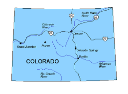 map us states colorado colorado us state powerpoint map highways waterways capital and
