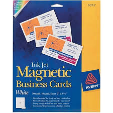 avery inkjet magnetic business cards staples