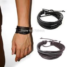 men bracelet style images Vintage style wrap leather braided rope bracelet for men and women jpg