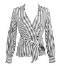 wrap shirts blouses blue and white stripe wrap shirt fashion shirts blouse