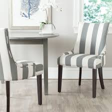 Dining Chairs Sets Side And Arm Chairs Safavieh Lester 19 U0027 U0027h Awning Stripes Dining Chair Set Of 2