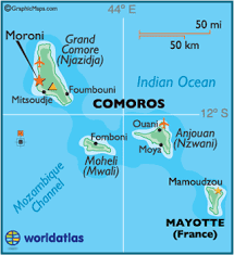map comoros china