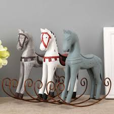horse statue home decor modern europe style trojan horse statue wedding decor wood horse