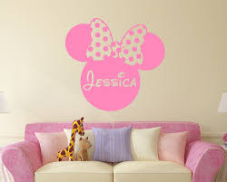 online get cheap personalized mickey mouse aliexpress com mickey mouse minnie personalized custom girl name vinyl mural wall sticker pink decals kids nursery room