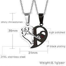 key love necklace images Romantic couples heart key crystal pendant froggy enterprises jpg