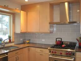 glass subway tile backsplash ideas modern kitchen 2017