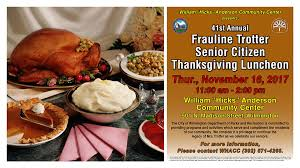 41st frauline trotter thanksgiving luncheon events calendar