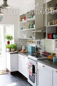 Open Kitchen Shelves Instead Of Cabinets Shelves Instead Of Kitchen Cabinets Monsterlune
