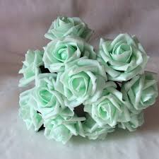 green roses mint wedding flowers artificial roses mint green flowers for