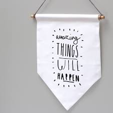 Flags And Things Amazing Things Banner Flag Typography Wall Hanging Old English