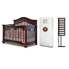 Crib With Mattress Afg Lia 4 In 1 Convertible Crib With Mattress And Guardrail