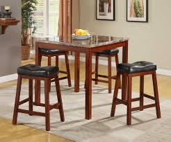 homelegance achillea 5 piece counter height dining set with faux