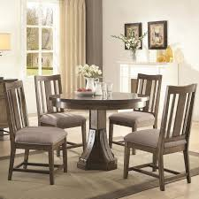 coaster dining room furniture coaster 106980 982 willowbrook rustic ash round dining table 5 pc set