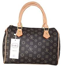 handtaschen design 1096 gogo damen designer handtasche bowlingbag braun de