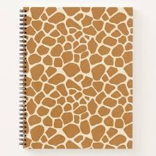 giraffe pattern notebook giraffe print notebook
