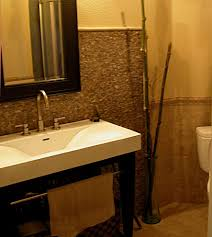 Powder Room Faucets Mirror Frosting Powder Room Transitional With Wood Bathroom Vanity