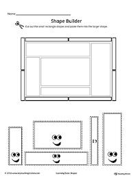 geometric shape builder worksheet rectangle myteachingstation com
