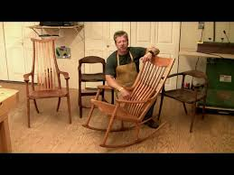 learn how to build a maloof style rocking chair 6 hrs of hd
