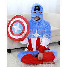 halloween costumes captain america kigurumi retail outlet captain america pajamas animal costume kigurumi