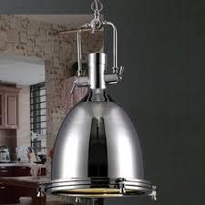 Industrial Looking Lighting Fixtures Industrial Style 1 Light Large Pendant In Polished Nickel