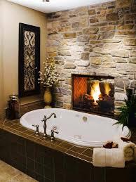 badezimmer modern rustikal rustikale design ideen für badezimmer steinwand kamin wanne