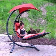 Hanging Chaise Lounge Chair Big Outdoor Products Sunnydaze Floating Chaise Lounge Chair