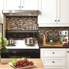 kitchen adorable backsplash peel and stick backsplash lowes home