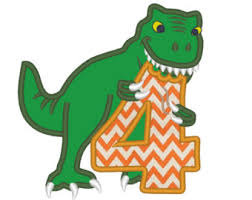 dinosaur birthday dinosaur number etsy