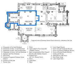 All Saints Church Floor Plans by Church Guide