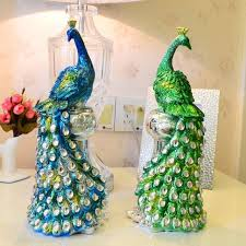 resin peacock ornaments wedding gift ideas and practical fashion