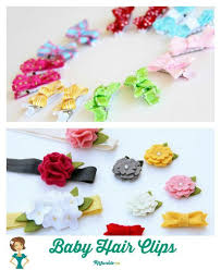 baby hair clip 26 easy how to make hair bows step by step tip junkie