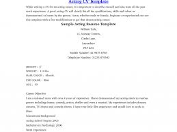 Sample Resume Content by Beginner Acting Resume Samples Template Acting Resume Beginner