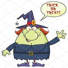 halloween coldren background ugly witch cartoon mascot character illustrations creative market