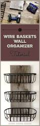 best 25 kitchen baskets ideas on pinterest kitchen essentials rustic wood and wire baskets organizer i made this for my kitchen and it