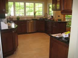 Cherry Wood Kitchen Cabinets Kitchen Excellent U Shape Kitchen Decoration Using Red Cherry