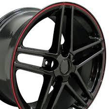 corvette zo6 rims c6 z06 corvette black w lip 17x9 5 wheels set of 4 hawks