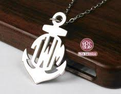 3 Initial Monogram Necklace Sterling Silver Silver Monogram 1 Inch 3 Initial Name Monogram Necklace