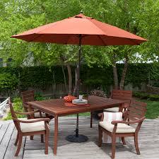 Wind Resistant Patio Umbrella Coral Coast 9 Ft Spun Poly Push Button Tilt Patio Umbrella With