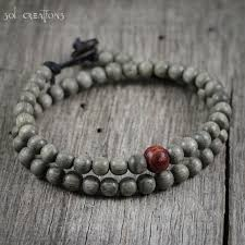 leather bracelet with beads images Handmade leather beaded mala style bracelets by sol creations jpg