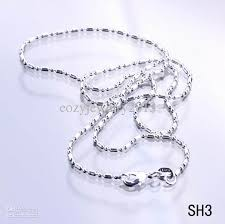 silver necklace woman images Best 925 sterling silver 16 inch necklace chain solid bead women jpg