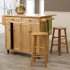bar stools small portable kitchen island with pantry cabinet