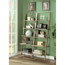 5 Shelf Ladder Bookcase by Furniture Narrow Leaning Shelf Leaning Bookcase Leaning