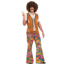 ladies mens 60s 70s retro hippie go go disco costume fancy