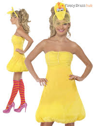 Big Bird Halloween Costumes Ladies Sesame Street Costume Adults Big Bird Elmo Oscar Fancy