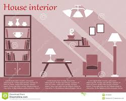 house interior infographic in flat style with stock vector image