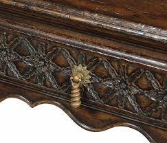 tudor dark oak rectangular distressed coffee table