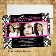 high school graduation invitation high school graduation invitations pink photo designs printable