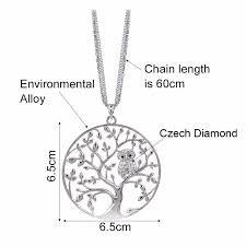 long owl pendant necklace images Owl pendant necklace jewelry accessory women fashion 2017 silver jpg