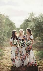 floral bridesmaid dresses wedding trends floral bridesmaid dresses the magazine