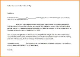6 recommendation letter for student scholarship sample receipts